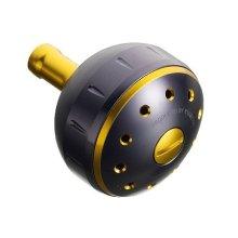 他の写真3: SHIMANO・夢屋アルミラウンド型パワーハンドルノブ/ブラック-ゴールド L ノブ Type B用
